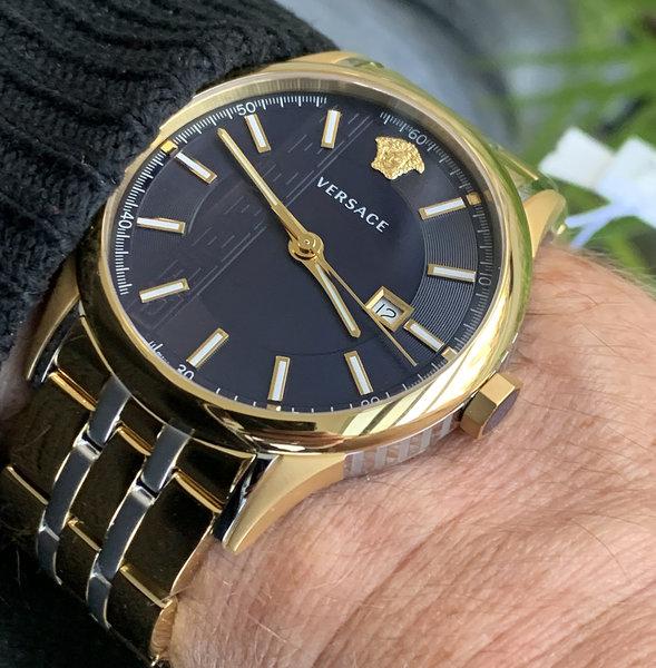 Versace Versace VE4A00720 Aiakos heren horloge 44 mm