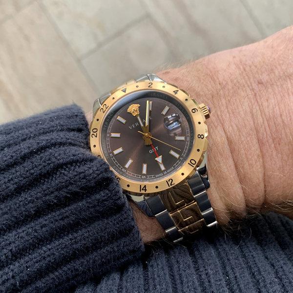 Versace Versace V11040015 Hellenyium GMT heren horloge