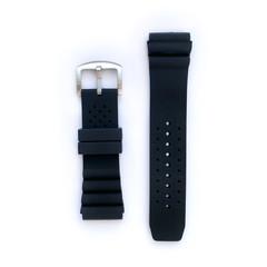 Tauchmeister 24mm zwart rubber horlogeband S24-dive