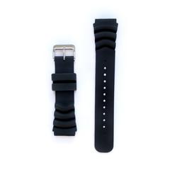 Tauchmeister 22mm zwart rubber horlogeband S22-dive