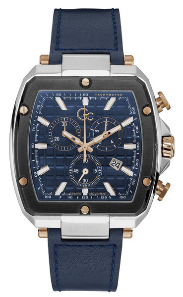 Gc Guess Collection Gc Guess Collection Y83001G7MF Spirit Tonneau heren horloge 48 mm