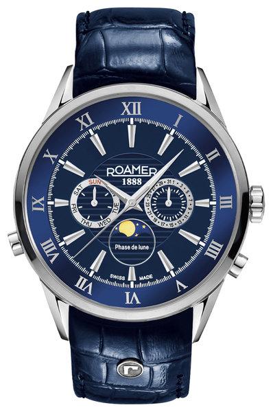 Roamer Roamer 508821 41 43 05 Superior Moonphase horloge 43 mm
