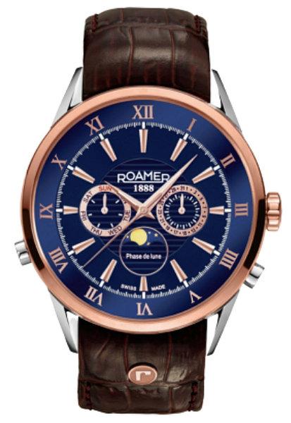 Roamer Roamer 508821 49 43 05 Superior Moonphase horloge 43 mm