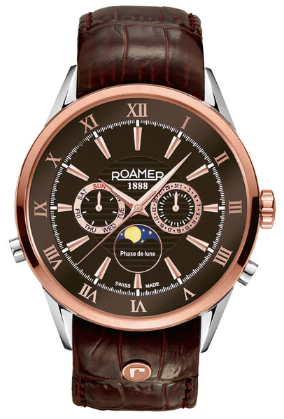 Roamer Roamer 508821 47 63 05 Superior Moonphase horloge 43 mm