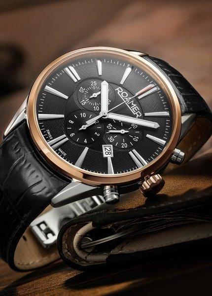 Roamer Roamer 508837 41 75 05 Superior Chrono horloge 44 mm
