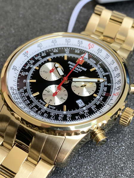 Swiss Alpine Military Swiss Alpine Military 7078.9117 chronograaf heren horloge 45 mm