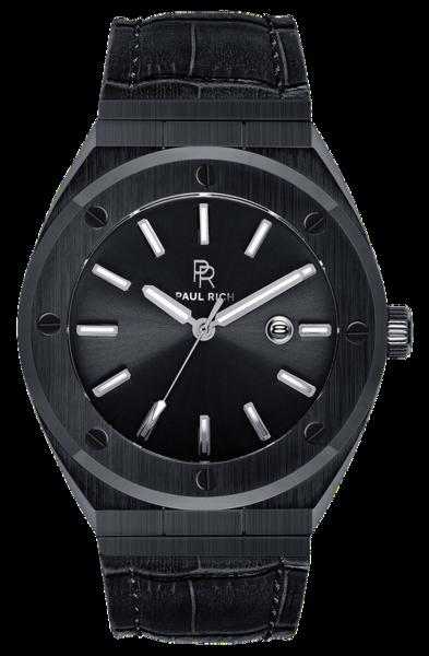 Paul Rich Paul Rich Signature Conquest Leer PR68ABL horloge 45 mm