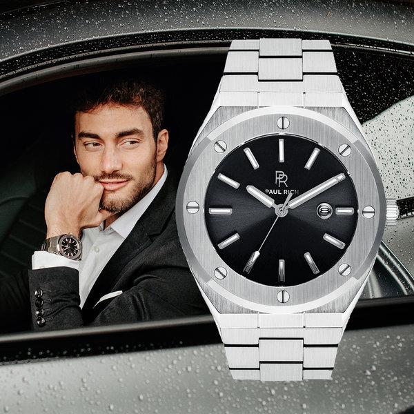 Paul Rich Paul Rich Signature Carbon Staal PR68SCS horloge 45 mm