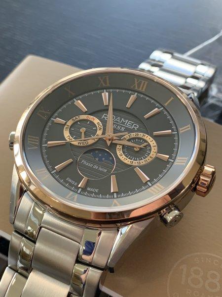 Roamer Roamer 508821 47 53 50 Superior Moonphase horloge 43 mm