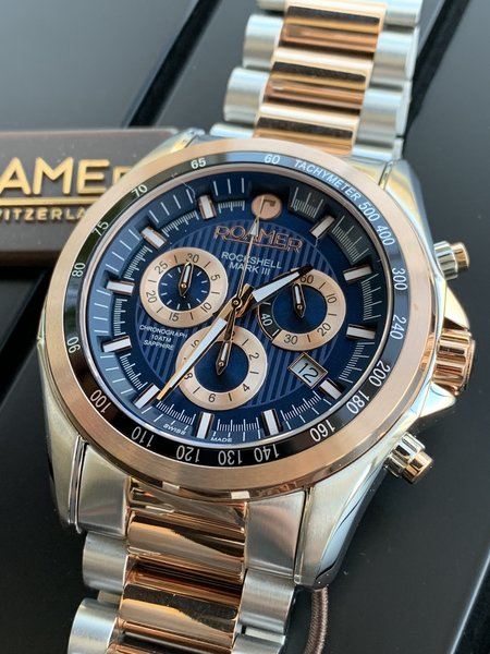 Roamer Roamer 220837 49 45 20 Rockshell Mark III horloge 44 mm
