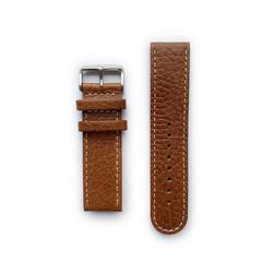 Tauchmeister 24mm bruin lederen horlogeband S24-brown
