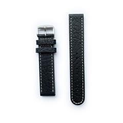 Tauchmeister 20mm zwart lederen horlogeband S20-black