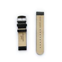 Tauchmeister Tauchmeister 22mm zwart lederen horlogeband S22-black