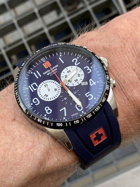 Swiss Alpine Military Swiss Alpine Military 7082.9835 heren horloge 45 mm