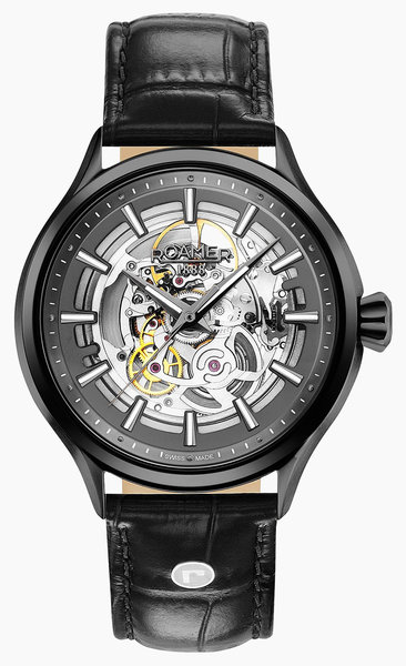 Roamer Roamer 101663 40 55 05N Competence Skeleton III horloge 43 mm