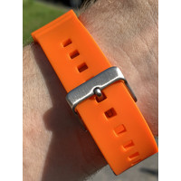 Tauchmeister Tauchmeister 22mm oranje rubberen horlogeband S22-OR