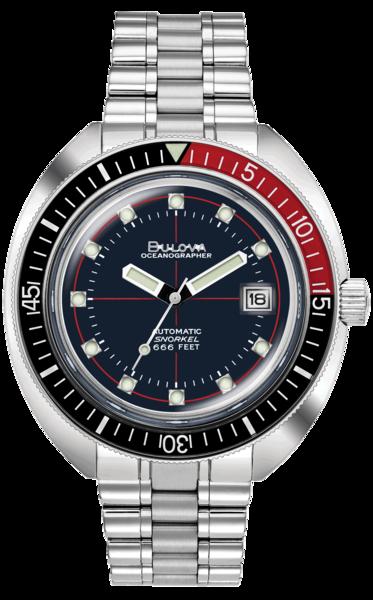 Bulova Bulova 98B320 Oceanographer Devil Diver herenhorloge 44 mm