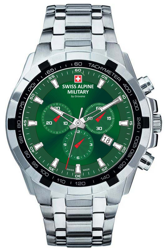Pre-order! Swiss Alpine Military 7043.9134 heren horloge 46 mm
