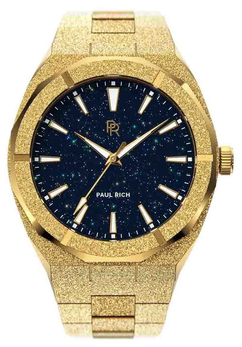 Paul Rich Frosted Star Dust Gold FSD02 horloge 45 mm