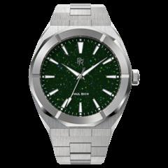 Paul Rich Star Dust Green Silver SD06 horloge