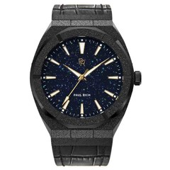 Paul Rich Frosted Star Dust Black FSD01-L Leather horloge 45 mm