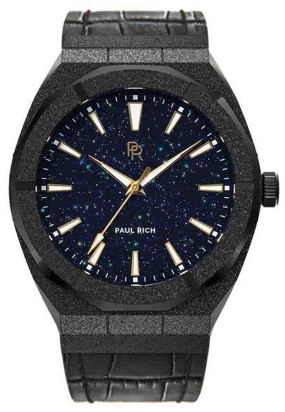 Paul Rich Paul Rich Frosted Star Dust Black FSD01-L Leather horloge 45 mm