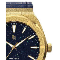 Paul Rich Paul Rich Frosted Star Dust Gold FSD02-L Leather horloge 45 mm