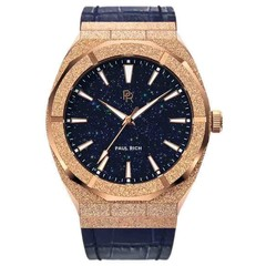 Paul Rich Frosted Star Dust Rose Gold FSD04-L Leather horloge 45 mm