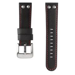 TW Steel TWB411 24mm zwart lederen horlogeband