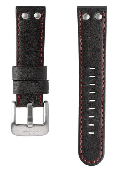 TW Steel TW Steel TWB411 24mm zwart lederen horlogeband