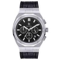 Paul Rich Paul Rich Motorsport Silver Black Leather MSP06-L horloge 45 mm