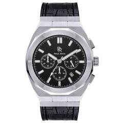 Paul Rich Motorsport Silver Black Leather MSP06-L horloge 45 mm