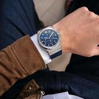 Paul Rich Paul Rich Motorsport Silver Blue Leather MSP05-L horloge 45 mm