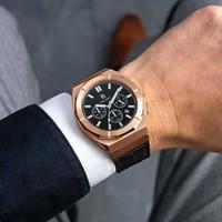 Paul Rich Paul Rich Motorsport Rose Gold Leather MSP04-L horloge 45 mm