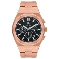 Paul Rich Motorsport Chrono Rose Gold Black Steel MSP04 horloge 45 mm