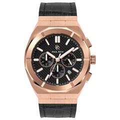 Paul Rich Motorsport Carbon Fiber Rose Gold Leather MCF04-L horloge 45 mm