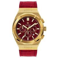 Paul Rich Paul Rich Motorsport Carbon Fiber Gold Red Leather MCF03-L horloge 45 mm