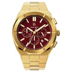 Paul Rich Motorsport Carbon Fiber Gold Red MCF03 horloge 45 mm