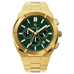 Paul Rich Motorsport Carbon Fiber Gold Green MCF02 horloge 45 mm