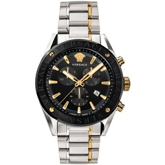 Versace VEHB00619 V-Chrono heren horloge zwart/zilver