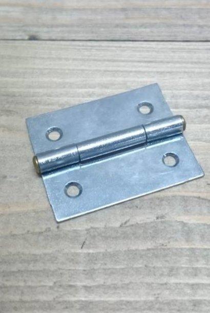 Scharnier blank verzinkt 40x32 mm