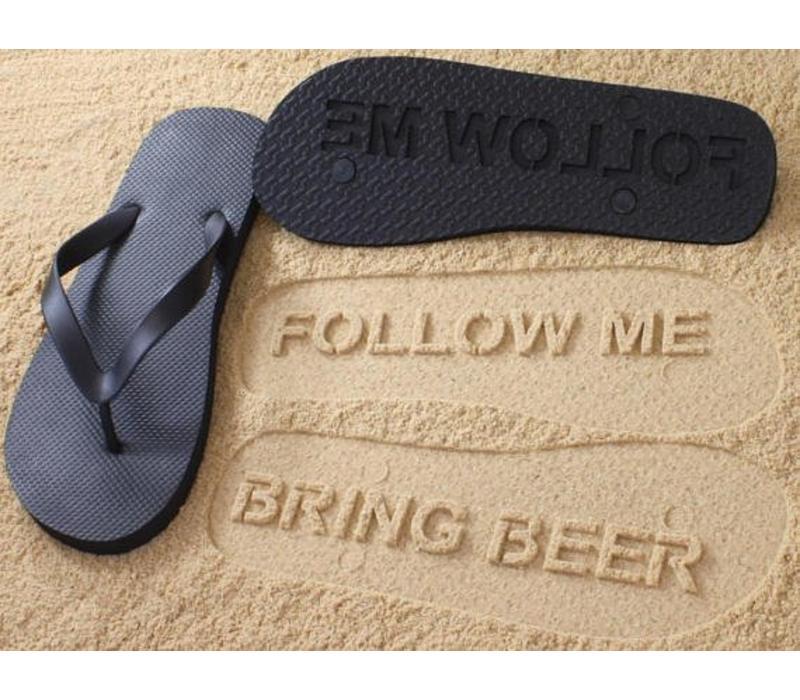 Follow me Bring beer FlipFlops