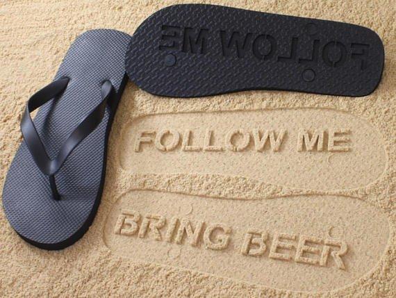 Follow me Bring beer FlipFlops-1