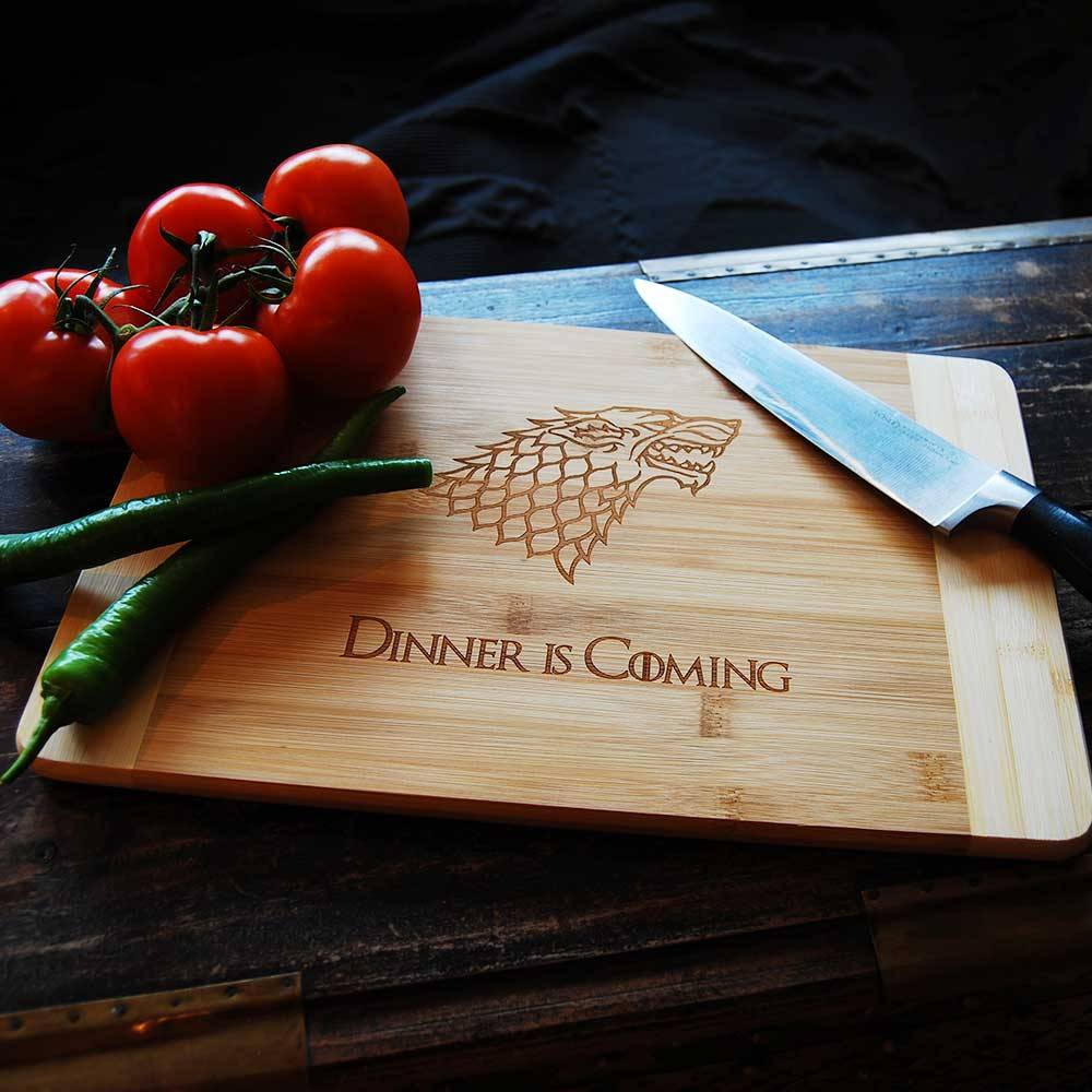 Dinner Is Coming Cutting Board-2