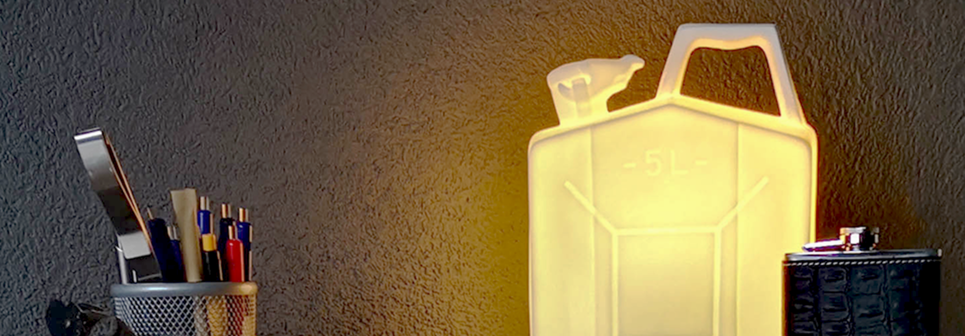 Porseleinen jerrycan lamp