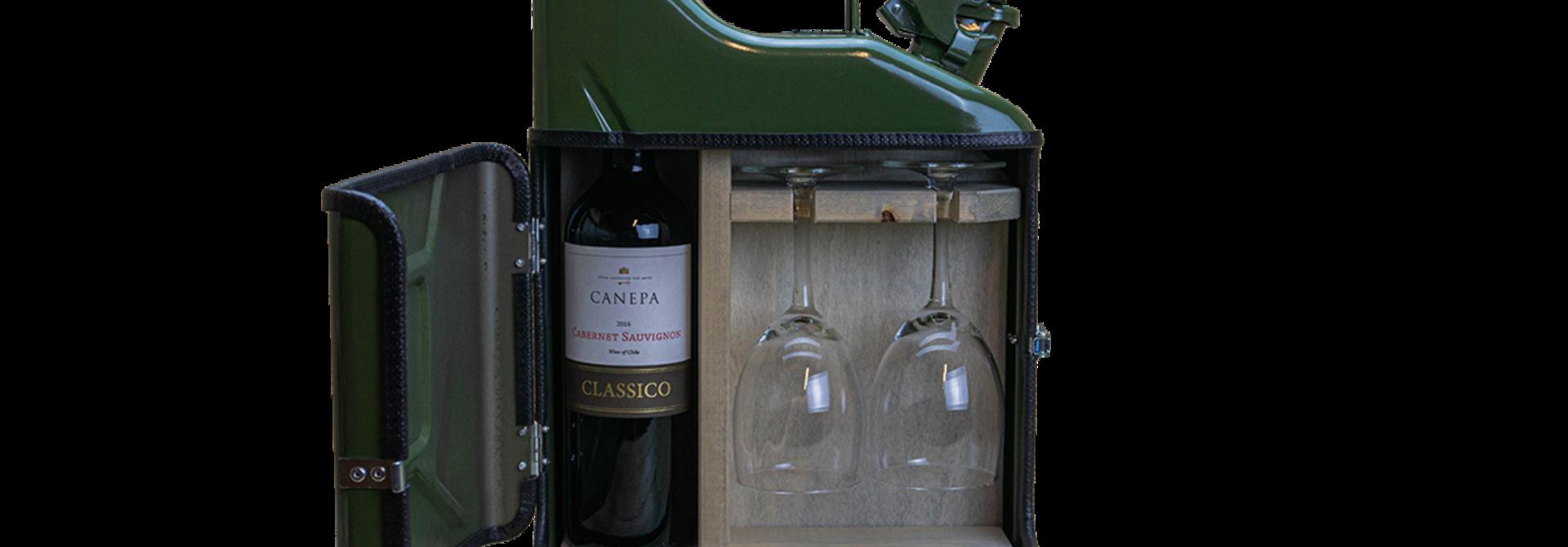 Jerrycan mini wijn bar
