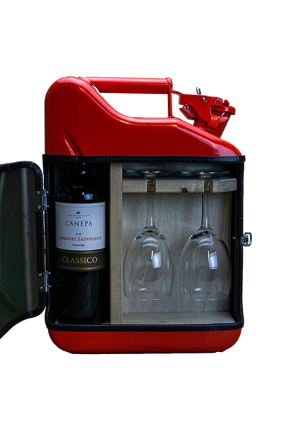 Jerrycan mini wijn bar