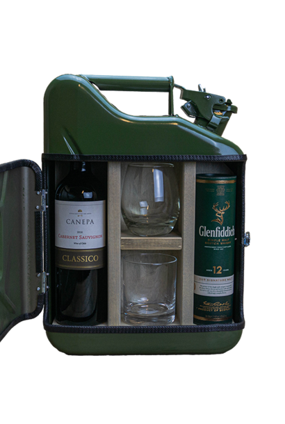 Jerrycan mini his & hers bar