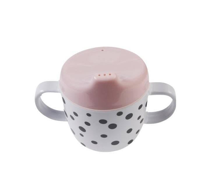 hoorens Dots 2 Handle Spout Cup, powder