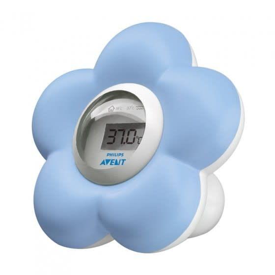 Digitale badthermometer blauw